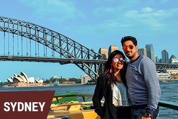 A beautiful couple on a holiday-to-Sydney